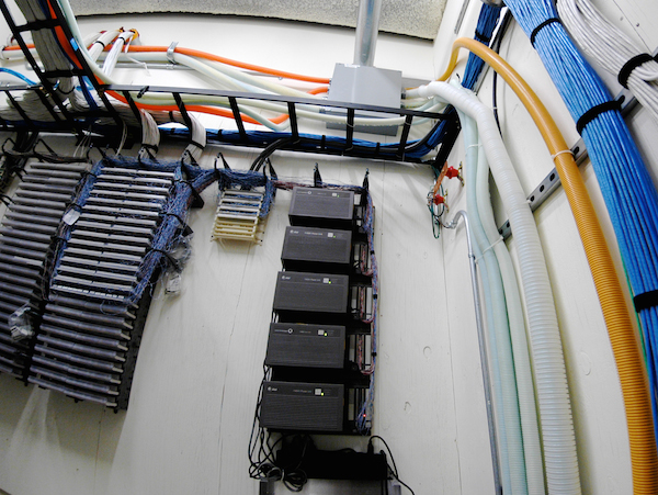 Structured cable telecom closet