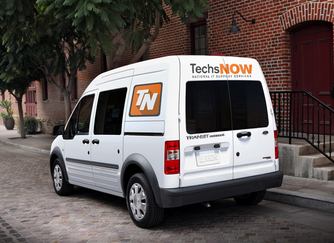 TechsNOW Ford Transit van parked